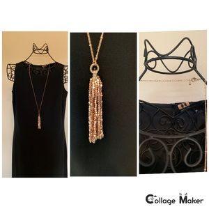 Like New Rose Gold Tassle Necklace